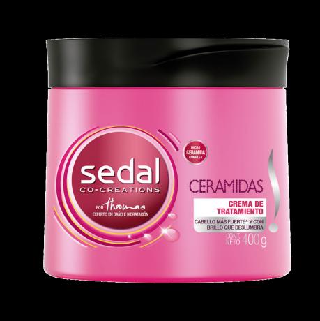 Imagen al frente del paquete Sedal Ceramidas Crema de Tratamiento 300 gr